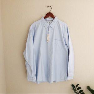 UNIQLO Men's Button Down Oxford Shirt Long Sleeve